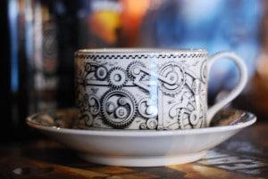 kaffekopp på en bar